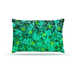 """Kess InHouse - Ebi Emporium """"Luck of the Irish"""" Green Floral Fleece Dog Bed (30"""" x 40"""") - Pets deserve to be as comfortable as their humans! These dog beds not only give your pet the utmost comfort with their fleece cozy top but they match your house and decor! Kess Inhouse gives your pet some style by adding vivaciously artistic work onto their favorite place to lay, their bed! What's the best part? These are totally machine washable, just unzip the cover and throw it in the washing machine!"""