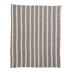Cricket Radio - Alexandria Stripe Hand Towel, Stone/White - Give this towel a hand with cassic stripes on luxurious Italian linen that gets softer with time and comes in your choice of colors. Add a little color, style and utility to your kitchen or guest bath — or buy a few to use as oversize napkins.
