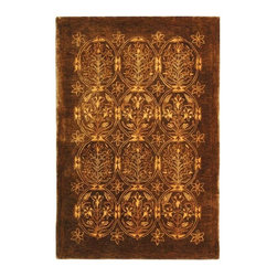 Safavieh - Traditional Taj Mahal 9'x12' Rectangle Olive Area Rug - The Taj Mahal area rug Collection offers an affordable assortment of Traditional stylings. Taj Mahal features a blend of natural Olive color. Hand Tufted of Wool the Taj Mahal Collection is an intriguing compliment to any decor.