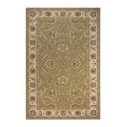 Momeni - Sage Floral Print New Zealand Wool Rug - Persian Garden PG-10 (3.0 ft. x 5.0 ft. - Choose Size & Shape: 3.0 ft. x 5.0 ft. Rectangle. Power loomed. Space-dyed yarn. 100% New Zealand Wool. Care InstructionInspired by the rarest Persian Antique pieces, Persian Garden is a unique collection of power-loomed rugs that evoke a sense of the past in modern-day colors and interpretations. These rugs feature an abrash effect and hand-serged edges for a quality finish.