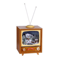 Winward Designs - Holiday TV Music Box - A popular item, this music box plays a mix of Christmas tunes. Play this all night long during Christmas Eve!