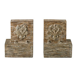 Sterling Industries - Set Of 2 Reclaimed Fleur De Lis Artifact Bookends - Set Of 2 Reclaimed Fleur De Lis Artifact Bookends