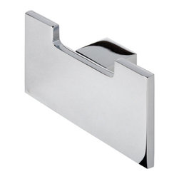Geesa - Contemporary Chrome Square Towel or Robe Hook - Contemporary stye coat or towel double hook.