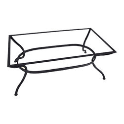 Mathews & Company - Woodland Coffee Table Base Only - This contemporary Woodland Coffee Table Base Only allows you to use your own table top such as granite, custom wood, stone, or glass. Pictured in Black finish.