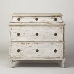 Swedish Three Drawer Chest - I love the lines on this piece. It would look equally as good in a bedroom as it would in a more public spot like the foyer or living room.