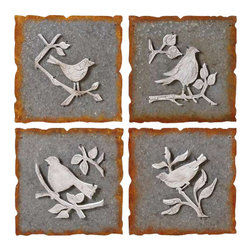 MIDWEST CBK - Stamped Metal Bird Wall Art (4 assorted) - Stamped Metal Bird Wall Art (4 assorted). Shop home furnishings, decor, and accessories from Posh Urban Furnishings. Beautiful, stylish furniture and decor that will brighten your home instantly. Shop modern, traditional, vintage, and world designs.