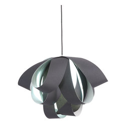 Zuo Modern - Zuo Modern Fringe Ceiling Lamp in Black - Ceiling Lamp in Black belongs to Fringe Collection by Zuo Modern Supple strips of fabric loop endlessly creating the Fringe ceiling lamp. Comes with one 13W bulb and is UL approved. The height is fully adjustable. Lamp (1)
