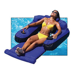 Swimline - Swimline Ultimate Floating Lounger - NT145 - Shop for Cabinets from Hayneedle.com! Relaxing is serious business which is why the SplashNet Xpress Ultimate Floating Lounger is covered by the same strong nylon fabric used by the rafts and tubes towed by speedboats. Featuring head arm and leg rests this rigid lounge chair supports your body for hours of lasting comfort. Just like with any sport professional relaxation requires proper hydration and that's why there's a built-in cup holder. About SplashNet XpressSplashNet Xpress is dedicated to providing consumers with safe high-quality pool products delivered in a fast and friendly manner. While it's adding new product lines all the time SplashNet Xpress already handles pool maintenance items toys and games cleaning and maintenance devices solar products and aboveground pools.