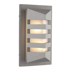 PLC Lighting - PLC Lighting PLC 16611 Single Light Outdoor Wall Sconce De Majo Collect - PLC Lighting PLC 16611 Contemporary / Modern Single Light Outdoor Wall Sconce from the De Majo CollectionSince 1989, PLC Lighting, Inc. has continued to provide our customers with both contemporary and traditional lighting fixtures in a multitude of styles. Their products can be found in showrooms throughout North, Central and South America, as well as the Caribbean Islands. They furnish the finest residences, hotels, restaurants, and office complexes all over the world.Features: