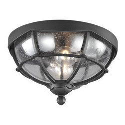 Murray Feiss - Murray Feiss OL9812 River North 2 Light Outdoor Flush Mount Ceiling Fixture - Features: