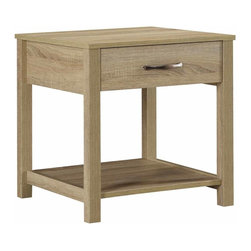 Linon Home Decor - Linon Home Decor Aspen End Table X-U-DK-10-PSA82048 - The chic, versatile design of the Aspen Collection makes it perfect for a range of home d&#233:cor styles. A little rustic, a bit transitional and slightly modern, the collection features straight lined sides and a blonde aspen finish. The End Table is perfect for placing next to a chair or sofa. A single drawer keeps small items hidden, while an open shelf lets you store and display decorative pieces.