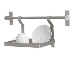 Mikael Warnhammar - GRUNDTAL Wall Rack/Dish Drainer, Stainless Steel - This rack is great for a sink without a window above it, but you can also buy Grundtal hooks to hang other things from the rail: ladles, oven mitts, tongs. The options are endless. Thank you, Ikea.