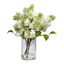 Nearly Natural - Lilac Silk Flower Arrangement - Designed for beauty Materials: Polyester Material, Plastic, Iron wire Plant: Lilac