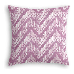 Purple Watercolor Zig Zag Custom Pillow - The every-style accent pillow: this Simple Throw Pillow works in any space.  Perfectly cut to be extra fluffy, you'll not only love admiring it from afar but snuggling up to it too!  We love it in this