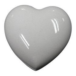Limoges - Limoges White Heart Heart Box - Limoges White Heart Heart Box