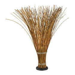 "Kenroy Home - Kenroy Home 21065 Floral Single Light 46"" Faux Reed Hidden Floor Lamp from the S - Floral Single Light 46"" Faux Reed Hidden Floor Lamp from the Sheaf CollectionTruly unique, Sheaf initially appears to be a gathered bundle of reeds, but its fanned top conceals a hidden light that gently illuminates the warm finish.  The effect can be country or nautical, but always stands out.Features:"