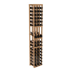 3 Column Display Row Cellar Kit in Pine with Oak Stain + Satin Finish - Make your best vintage the focal point of your wine cellar. High-reveal display rows create a more intimate setting for avid collectors' wine cellars. Our wine cellar kits are constructed to industry-leading standards. You'll be satisfied. We guarantee it.