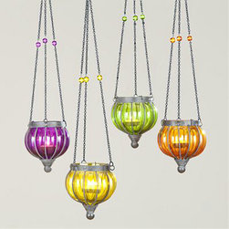 Small Melon Lanterns - Hang a cluster of these pretty lanterns to add a romantic glow outside — very Arabian nights.