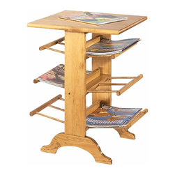 "The Renovators Supply - Magazine Racks Country Pine Magazine Rack | 166913 - Two peices for the price of one! End table holds your magazines and catalogs. Solid pine with hardwood dowels. This rack is 18"" wide- 24"" high- and 16"" deep. Finished in Country Pine- refer to sample."