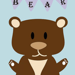 Oh How Cute Kids by Serena Bowman - Mod Bear in Blue, Ready To Hang Canvas Kid's Wall Decor, 11 X 14 - Each kid is unique in his/her own way, so why shouldn't their wall decor be as well! With our extensive selection of canvas wall art for kids, from princesses to spaceships, from cowboys to traveling girls, we'll help you find that perfect piece for your special one.  Or you can fill the entire room with our imaginative art; every canvas is part of a coordinated series, an easy way to provide a complete and unified look for any room.