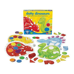 The Original Toy Company - The Original Toy Company Kids Children Play Dotty Dinosaurs - Match shapes and colors. Can you help the dotty dinosaurs to find their missing spots. Throw the dice to match shapes or colors and be the firts to cover your dinosaur board in this game for young players. Two games in one. Ages 3-6 years. 2-4 players. Made in England. Weight: 3 lbs.