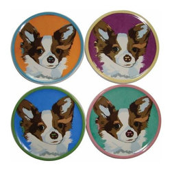 WL - 4 Inch Diameter Pop Art Inspired Chihuahua Coasters Set of 4 - This gorgeous 4 Inch Diameter Pop Art Inspired Chihuahua Coasters Set of 4 has the finest details and highest quality you will find anywhere! 4 Inch Diameter Pop Art Inspired Chihuahua Coasters Set of 4 is truly remarkable.