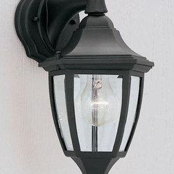 "Designers Fountain - Designers Fountain 2461-BK 1 Light 7"" Cast Aluminum Wall Lantern - Features:"