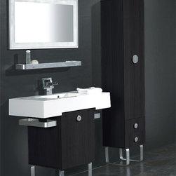 "Pierre II Modern Bathroom Vanity Set 37"" - The Pierre II is a contemporary bathroom vanity set that embraces the latest trend in luxury modern bathroom design."