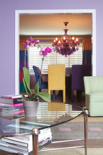 eclectic dining room by Avalon Interiors