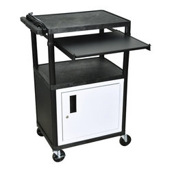 Luxor - Luxor Presentation Cart - LP42CLE-B - Luxor LP series presentation station AV carts are made of recycled high density polyethylene structural foam molded plastic shelves that will not scratch, dent, rust or stain.