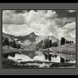 Amanti Art - Mount Clarence King, 1925 Framed Print by Ansel Adams - A remarkable mountain scene, captured through the lens of the one and only Ansel Adams. This stunning black and white print, simply matted and framed, makes a breathtaking statement in your decor.