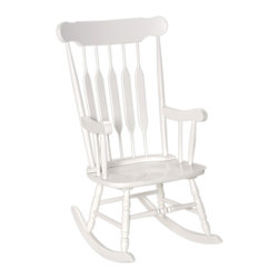 Gift Mark - Gift Mark Home Kids Children Adult Rocking Chair White Finish - Our Adult sized Rocking Chair, is just like the One that Grandma Used. This Heirloom quality Rocking Chair is made of Solid Wood. The Rocking Chair is Handcrafted used all Natural Wood. This top of the Line Gift mark Adult Rocking Chair can be used for Generations.