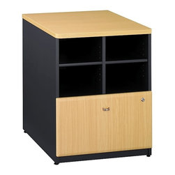 Bush Business - Office Storage Unit w Lateral File Drawer (Na - Color: Natural CherryProvides open and concealed storage. Lateral file drawer holds letter, legal, or A4 files. Sturdy 1 in. thick top surface. Wire management features. Durable PVC edge banding stands up to bumps and collisions. Levelers adjust for stability on uneven floors. 23.543 in. W x 23.346 in. D x 29.764 in. H