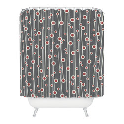 DENY Designs - Heather Dutton Berry Branch Shower Curtain - Who says bathrooms can't be fun? To get the most bang for your buck, start with an artistic, inventive shower curtain. We've got endless options that will really make your bathroom pop. Heck, your guests may start spending a little extra time in there because of it!