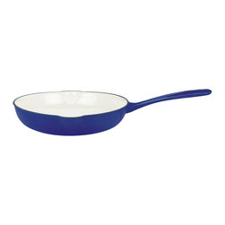 Dansk - Mario Batali by Dansk 10-inch Cobalt Skillet - You'll find many uses for this Mario Batali by Dansk cast-iron skillet. It's perfect for sauteing,searing and pan-frying your favorite foods. And,because this skillet is cast iron,you can use it for baking,too.