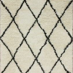 Nuloom - nuLOOM Hand-knotted Moroccan Trellis Natural Shag Wool Runner (2'8 x 10') - Inspired from Morocco,this hand-knotted trellis shag runner is made of 100-percent wool. Both ends contain hand-braided tassels. With a soft and plush pile,make your space feel right at home.