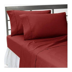 SCALA - 1000Tc Solid King Size Burgundy Color Sheet Set - We offer supreme quality Egyptian Cotton bed linens with exclusive Italian Finishing. These soft, smooth and silky high quality and durable bed linens come to you at a very low price as these come directly from the manufacturer. We offer Italian finish on Egyptian cotton, which makes this product truly exclusive, and owner's pride. It's an experience and without it you are truly missing the luxury and comfort!!