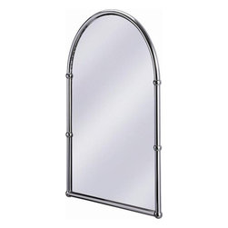 Burlington Arched Mirror - Traditional style, chrome finish.