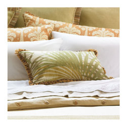 Frontgate - Capri Accent Pillow - Polyester/cotton/rayon. Dry clean. Because this bedding is specially made to order, please allow 4-6 weeks for delivery.. Escape to the islands every night under our rich, tropical-inspired Capri Bedding Collection.  .  . . Made in the USA of imported goods. Part of the Capri Bedding Collection.