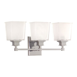 Hudson Valley - Hudson Valley 1953-PC 3 Light Bath BracketBerwick Collection - Hudson Valley Lighting designs and manufactures distinctive lighting found in the finest homes and upscale hospitality environments where discerning taste prevails.