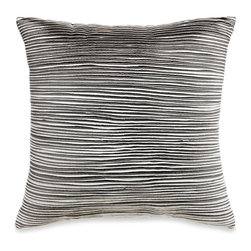 Sonata Pleated Square Toss Pillow - I love the effect that the repeated pleats give this pillow.