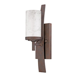 Quoizel - Quoizel KY8701IN Kyle 1 Light Wall Sconces in Iron Gate - This 1 light Wall Sconce from the Kyle collection by Quoizel will enhance your home with a perfect mix of form and function. The features include a Iron Gate finish applied by experts. This item qualifies for free shipping!