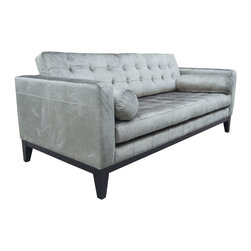 #N/A - Marquis Sofa Grey - Marquis Sofa Grey. Seat Height: 16.5""