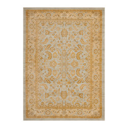 """Safavieh - Teodora Rug, Light Grey / Gold 9'6"""" X 13' - Construction Method: Power Loomed. Country of Origin: Turkey. Care Instructions: Vacuum Regularly To Prevent Dust And Crumbs From Settling Into The Roots Of The Fibers. Avoid Direct And Continuous Exposure To Sunlight. Use Rug Protectors Under The Legs Of Heavy Furniture To Avoid Flattening Piles. Do Not Pull Loose Ends; Clip Them With Scissors To Remove. Turn Carpet Occasionally To Equalize Wear. Remove Spills Immediately. The dramatic patterns of heirloom Serape, Sultanabad and Oushak rugs are recreated for 21st century lifestyles in the Austin Collection. Power-loomed of long-wearing, easy-care polypropylene, each rug stands up to heavy traffic while adding timeless beauty to entry hall, living room, kitchen and more."""