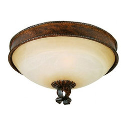 YOSEMITE HOME DECOR - 3 Lights Flush Mount in Bronze Patina - - 17.75 in. Flush Mount