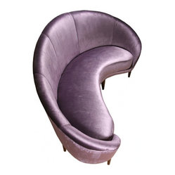 ecofirstart - Kidney Shaped Sofa - Go ahead and swoon as you feast your eyes on this sumptuous kidney-shaped sofa designed by Italian architect and designer Ico Parisisi.  The sustainable materials, delectable purple fabric and sexy lines make this couch creation mouthwateringly stylish.