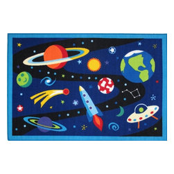 Fun Rugs - Olive Kids - Out of This World Kids Rugs - 39 x 58 in. - Your child's room is a natural extension of them. Add these innovative designs to spruce up any child's decor.