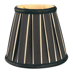 """Royal Designs, Inc"" - Decorative Trim English Pleated Chandelier Lampshade - ""This shade is a part of Royal Designs, Inc. Timeless Chandelier Shade Collection and is perfect for anyone who is looking for a simple yet stunning lampshade. Royal Designs has been in the lampshade business since 1993 with their multiple shade lines that exemplify handcrafted quality and value."