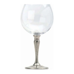 Match - Match Balloon Wine Glass-set of two - Handmade in Italy, Match stemware lends elegance to any setting. This crystal and pewter balloon wine glass measures 7.7h. Match stemware and barware must always be washed by hand. Please do not soak these items in hot water or place them in the dishwasher. This will compromise the bond between the crystal and the pewter, and possibly lead to separation.