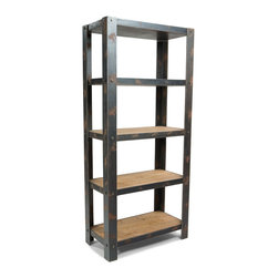 Moe's Home Collection - Bolt Shelf Natural - Industrial Shelf that provides stylish storage for urbane living.